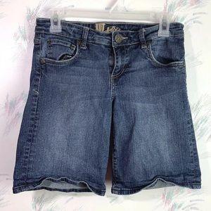 Kut From The Kloth Blue Jean Bermuda Shorts